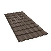 Tigla metalica Baudeman Clasic 35, maro inchis mat (RAL 8019), 2920 x 1200 x 0.45 mm