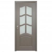 Usa de interior din lemn cu geam BestImp 013-78 G, stanga / dreapta, gri, 203 x 78 cm