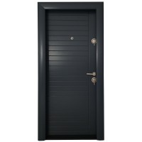 Usa interior metalica Arta Door Modern PVC 370, stanga, antracit, 201 x 88 cm