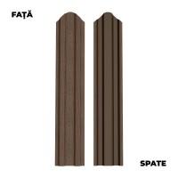 Sipca metalica cutata pentru gard, wood anticato, 1500 x 92.9 x 0.45 mm