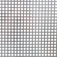 Tabla aluminiu perforata, perforatii patrate, C10U15, 1 x 2000 x 1000 mm