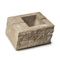 Element gard Avangard, beton, mokka, 400 x 200 x 160 mm