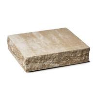 Capac stalp Avangard, beton, mokka, 310 x 360 x 80 mm