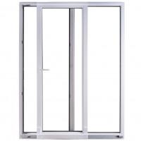Usa exterior din PVC cu geam termopan, pentru terasa, Far Est, osciloculisanta, 5 camere, prag PVC, stanga, alb, 180 x 210 cm