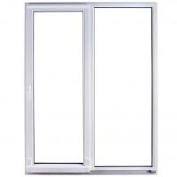 Usa exterior din PVC cu geam termopan, pentru terasa, Far Est, osciloculisanta, 5 camere, prag PVC, stanga, alb, 200 x 210 cm