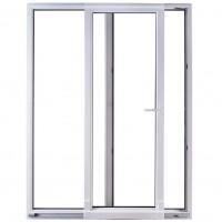 Usa exterior din PVC cu geam termopan, pentru terasa, Far Est, osciloculisanta, 5 camere, prag PVC, dreapta, alb, 160 x 210 cm