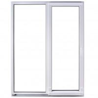 Usa exterior din PVC cu geam termopan, pentru terasa, Far Est, osciloculisanta, 5 camere, prag PVC, dreapta, alb, 180 x 210 cm