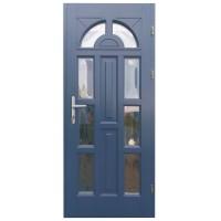 Usa intrare din lemn, Zsuzsana, gri antracit, cu sticla bombata, dreapta, 88 x 208 cm