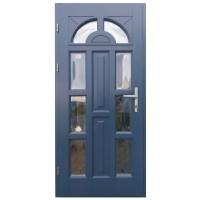 Usa intrare din lemn, Zsuzsana, gri antracit, cu sticla bombata, stanga, 98 x 208 cm