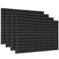 Placa fonoabsorbanta Piramidal RF 28, izolare fonica, spuma poliuretanica, 1000 x 500 x 65 mm, 4 bucati