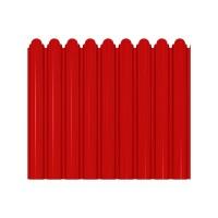 Gard metalic Smart Fix, rosu lucios (RAL 3011), 1500 x 1160 x 0.45 mm