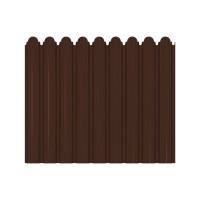 Gard metalic Smart Fix, maro lucios (RAL 8017), 1700 x 1160 x 0.45 mm
