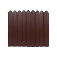 Gard metalic Smart Fix, maro mat (RAL 8017), 1700 x 1160 x 0.5 mm