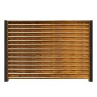 Profile montaj jaluzea Linella, imitatie lemn, otel, 60 x 0.5 mm, set 3 buc
