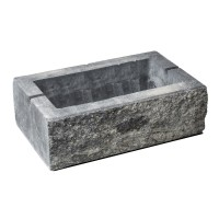 Element gard Avangard, beton, antracit, 400 x 200 x 160 mm