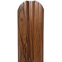 Sipca metalica cutata pentru gard, nuc, 800 x 115 x 0.4 mm, set 25 bucati + 50 bucati surub autoforant