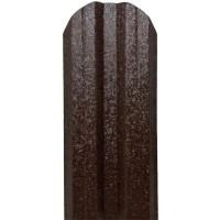 Sipca metalica cutata pentru gard, maro inchis / RAL 8019, 800 x 115 x 0.5 mm, set 25 bucati + 50 bucati surub autoforant