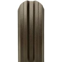 Sipca metalica cutata pentru gard, maro inchis / RAL 8019, 800 x 115 x 0.45 mm, set 25 bucati + 50 bucati surub autoforant