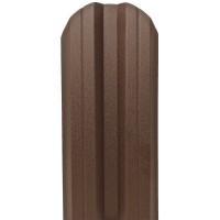 Sipca metalica cutata pentru gard, maro / RAL 8017, 800 x 115 x 0.45 mm, set 25 bucati + 50 bucati surub autoforant