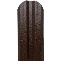 Sipca metalica cutata pentru gard, maro inchis / RAL 8019, 900 x 115 x 0.5 mm, set 25 bucati + 50 bucati surub autoforant