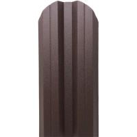 Sipca metalica cutata pentru gard, maro / RAL 8017 fata / spate, 900 x 115 x 0.5 mm, set 25 bucati + 50 bucati surub autoforant