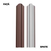 Sipca metalica cutata pentru gard, maro / RAL 8017, 1750 x 92.9 x 0.45 mm