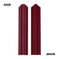 Sipca metalica cutata pentru gard, visiniu / RAL 3005 fata / spate, 1750 x 92.9 x 0.6 mm