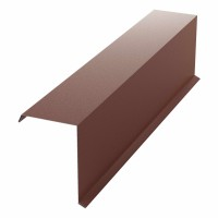 Bordura fronton Bilman maro mat (RAL 8017) 2000 x 312.5 x 0.4 mm