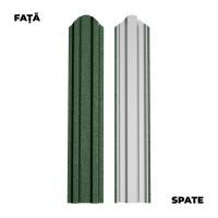 Sipca metalica pentru gard Bilka, tabla vopsita, verde (RAL 6005), 1750 x 92.9 x 0.5 mm