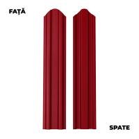 Sipca metalica cutata pentru gard, rosu / RAL 3011 fata / spate, 1700 x 92.9 x 0.6 mm