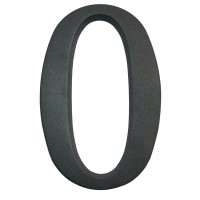 Numar 0 pentru casa, Sartpol, aluminiu, negru mat, exterior, 20 x 13 cm