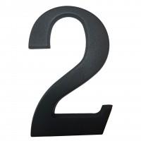 Numar 2 pentru casa, Sartpol, aluminiu, negru mat, exterior, 20 x 13 cm