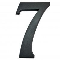 Numar 7 pentru casa, Sartpol, aluminiu, negru mat, exterior, 20 x 13 cm