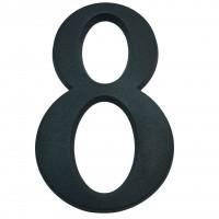Numar 8 pentru casa, Sartpol, aluminiu, negru mat, exterior, 20 x 13 cm