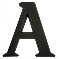 Litera A pentru casa, Sartpol, aluminiu, negru mat, 10 x 10 cm