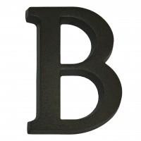 Litera B pentru casa, Sartpol, aluminiu, negru mat, 10 x 7 cm