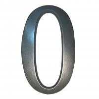 Numar 0 pentru casa, Sartpol, aluminiu, argintiu, exterior, 20 x 13 cm