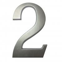 Numar 2 pentru casa, Sartpol, aluminiu, argintiu, exterior, 20 x 13 cm