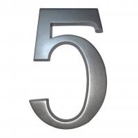 Numar 5 pentru casa, Sartpol, aluminiu, argintiu, exterior, 20 x 13 cm