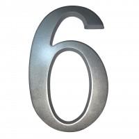 Numar 6 / 9 pentru casa, Sartpol, aluminiu, argintiu, exterior, 20 x 13 cm
