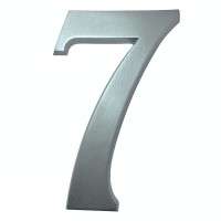 Numar 7 pentru casa, Sartpol, aluminiu, argintiu, exterior, 20 x 13 cm