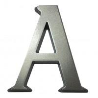 Litera A pentru casa, Sartpol, aluminiu, argintiu, 10 x 10 cm