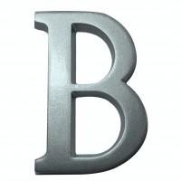 Litera B pentru casa, Sartpol, aluminiu, argintiu, 10 x 7 cm