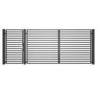 Ansamblu de porti metalice Moderna tip M11 4500 x 1800 mm