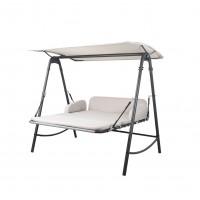 Balansoar gradina, 3 locuri, Relax Merida, tip pat, structura metal, 194.5 x 165 x 215 cm