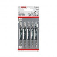 Panza fierastrau vertical, pentru lemn, Bosch Speed for Wood, T 144 D, 2608630040, set 5 bucati