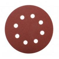 Disc abraziv cu autofixare, pentru slefuire lemn / metale, Bosch 2609256A24, 125 mm, granulatie 80, set 5 bucati