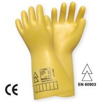 Manusi de protectie, electroizolante, Marvel 485-11, din latex, galben
