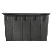 Naveta industriala Plastor 22165, neagra, cu pereti plini, 80 x 48 x 48 cm, 180L
