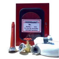 Cutie hidrant echipata, Eurosting, otel / sticla / cauciuc,  55 x 20 x 65 cm